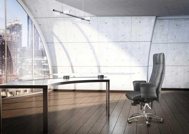 Entspannte Haltung Am Arbeitsplatz Durch Ergonomische Bürostühle